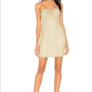 By the way Aran Metallic Mini Dress